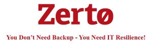 Zerto - IT Resilience